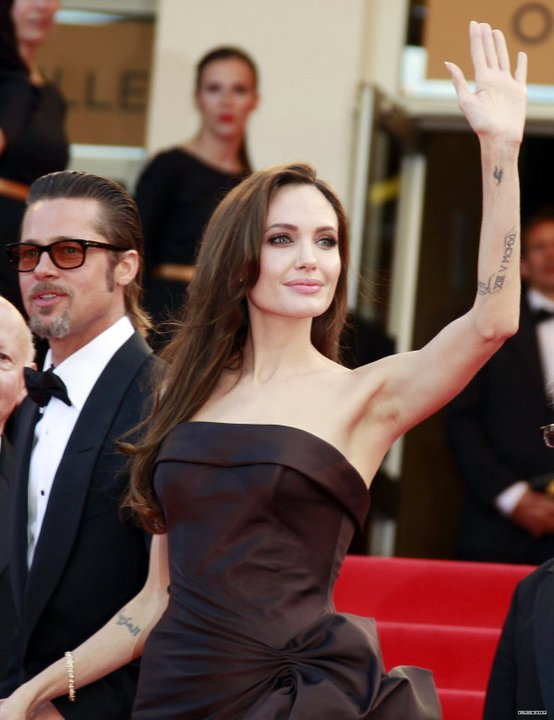 Анджелина Джоли и Брад Пит на фестивала в  Кан