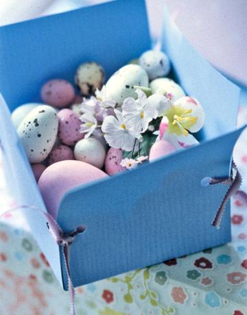 Декоративна кутийка с яйца за Великден