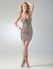 Сребриста къса рокля с презрамки за бал 2012
