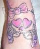 Татуировка череп с панделка