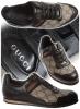 Спортни обувки Gucci с черна кожа и текстил с gucci принт пролет-лято 2012