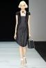 Черна рокля с черно сако с къс ръкав Emporio Armani Пролет-Лято 2012
