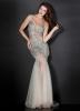Бални рокли 2012 Ефирна дълга бална рокля със сребриста бродерия 2012