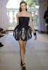 Къса черна рокля балон без презрамки Аndrew GN пролет 2012
