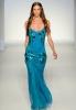 Дълга рокля с тънки презрамки в ярко синьо Аlberta Ferretti