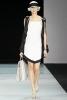 Бяла рокля с черен дълъг елек Emporio Armani Пролет-Лято 2012
