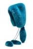 Синя кожена шапка тип качулка с пискюли Gucci есен-зима 2011