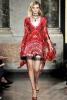 Къса ефирна червена рокля Еmilio Рucci пролет 2012