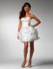 Къса романтична бяла рокля за бал 2012