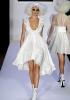 Бяла фънки рокля с дълбоко обло деколте Bebe пролет 2012