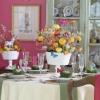 Празнична трапеза за Великден с тема Градина с пеперуди