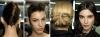 Вертикален и хоризонтален френски кок с прибрана коса отпред