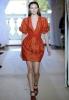 Къса рокля с остро деколте, оранжева кожа Аndrew Gn пролет 2012
