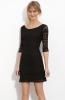 Малка черна рокля дантела и кадифе есен-зима 2011
