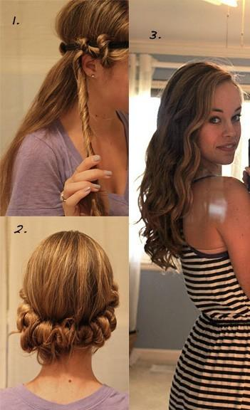 Лесен начин да си направите къдрици с лента за коса