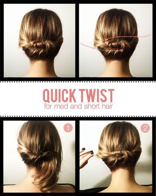 Бърза прическа за къса коса