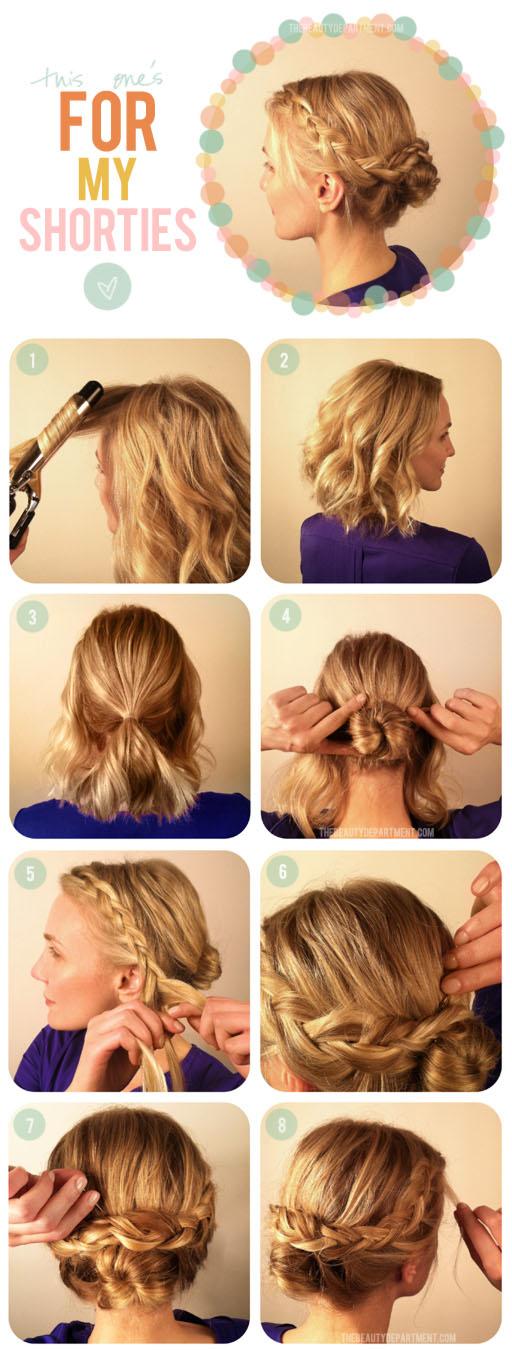 Страхотна идеи за кок с къса коса