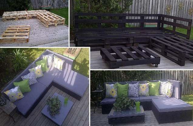 Как да си направим градински мебели от стари палети