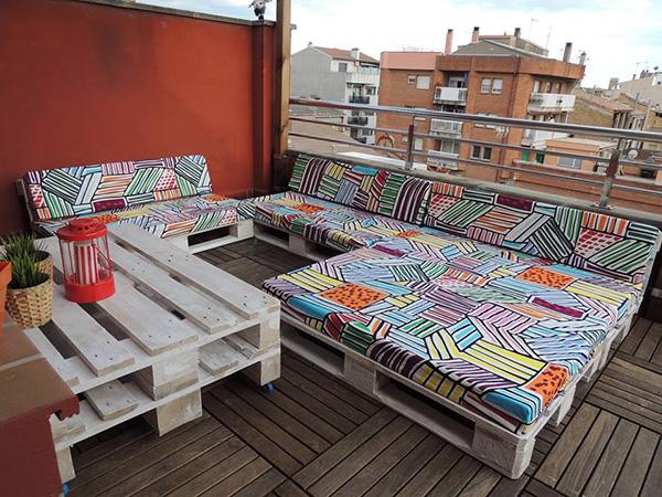 балконски мебели от стари палети