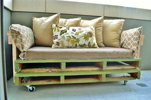 Идеи за градински мебели от стари палети