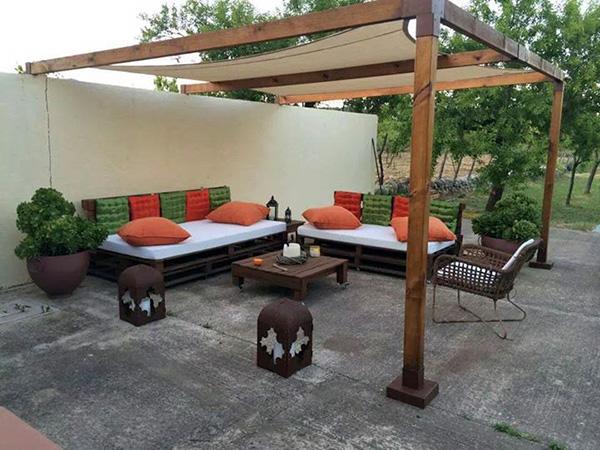 градински мебели от стари палети