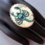 Зодиакален пръстен акцент - скорпион
