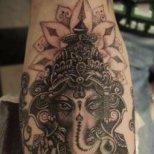 Татуировка източен мотив със слон
