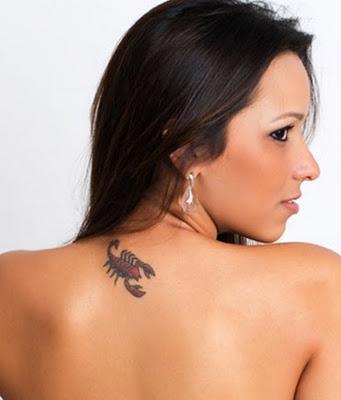 Татуировка скорпион на гърба