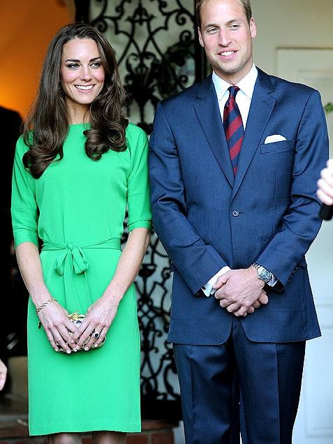 Кейт Мидълтън в ултра стилна права рокля с колан в зелено