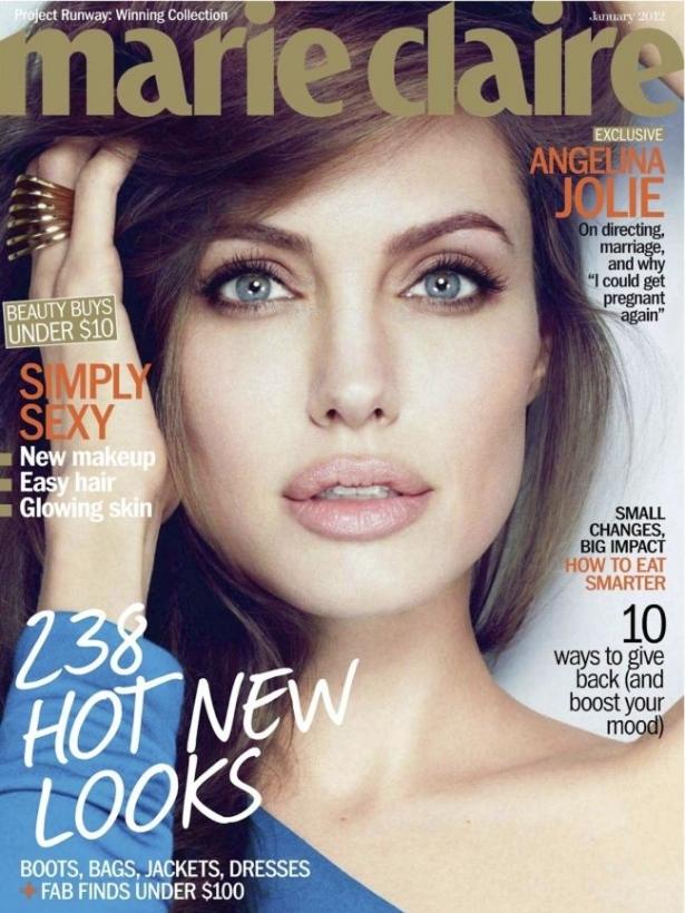 Анджелина Джоли за Marie Claire US януари 2012
