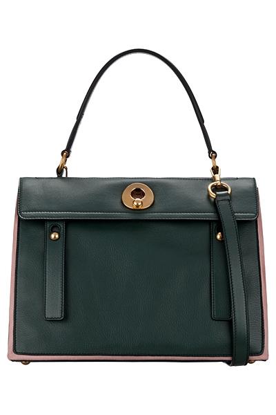 зелена чанта на Yves Saint Laurent за 2012