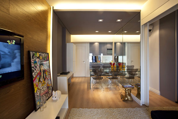 45 квадрата оптимизирани от Маурисио Карам - изглед към кухнята