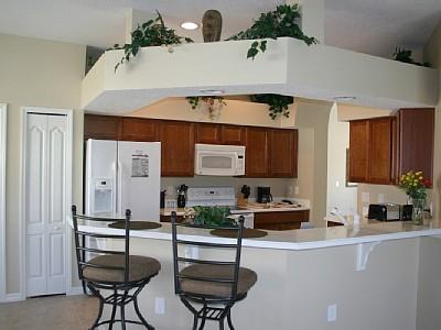 Кухня с ъглов бар плот