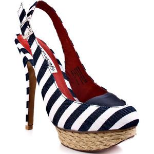 Обувки на ток моряшко райе с платформа еспадрили