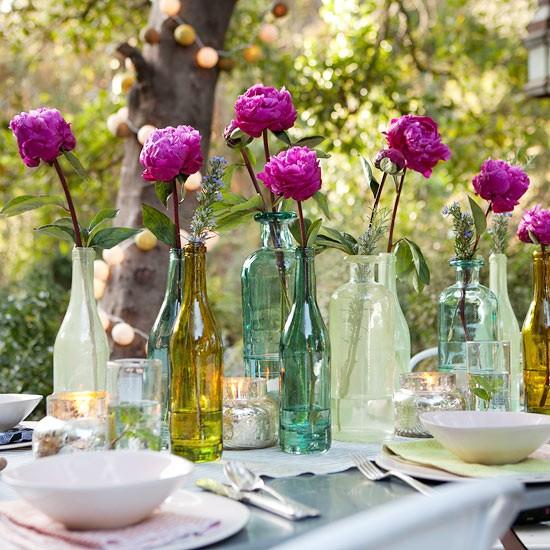 Рустик декорация за маса навън