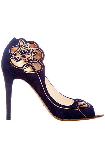 Обувки на ток в синьо с цвете Nicholas Kirkwood Пролет-Лято 2012