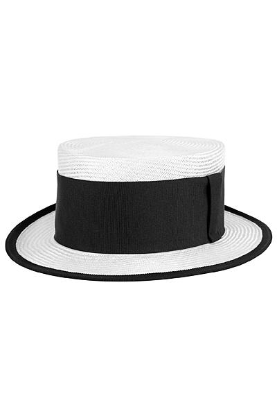 Бяла плетена шапка с черна лента Emporio Armani за Пролет-Лято 2012