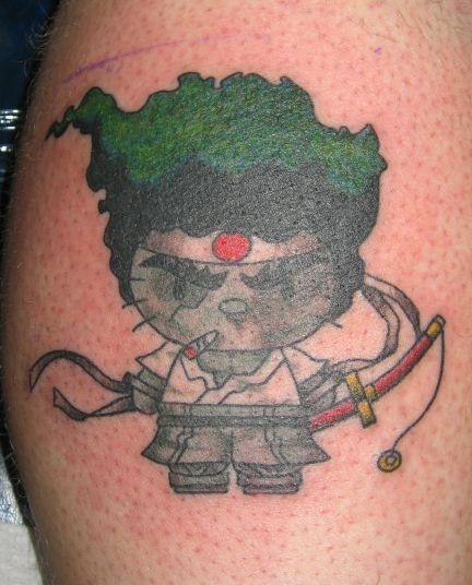 Татуировка анимационен герой