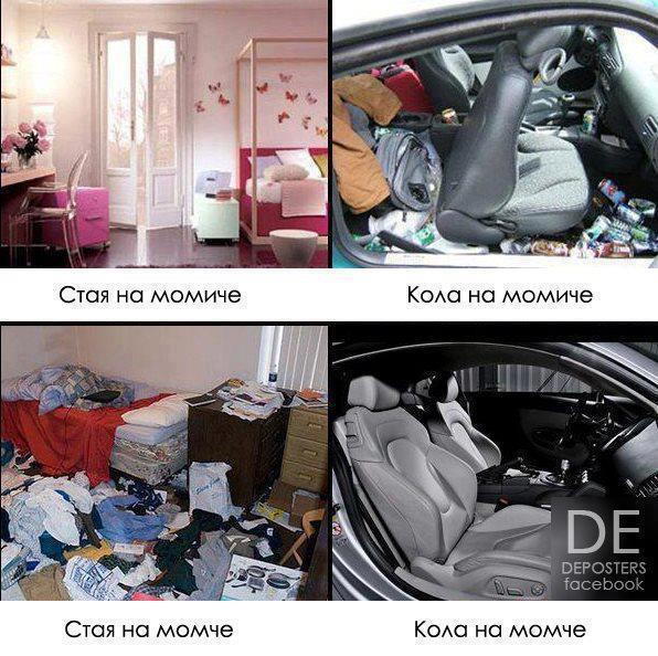 Стаята и колата на момче и момиче