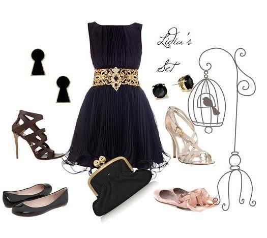 Стайлинг на принцеса - малка черна рокля и бляскави аксесоари