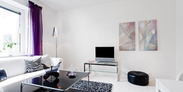 Малък и свеж апартамет - хол с тв