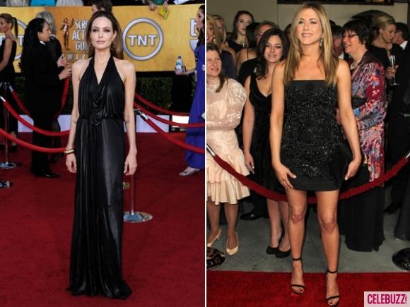 Анджелина Джоли и Дженифър Анистън на Червения килим