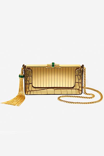 Златиста малка чантичка с пискюл Gucci за Пролет-лято 2012