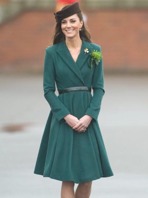 Кейт Мидълтън в уникална зелен рокля Emilia Wickstead