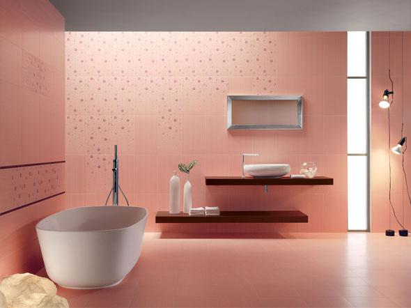 Баня с розови плочки