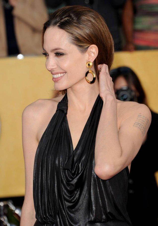 Анджелина Джоли на наградите на телевизионните актьори 2012