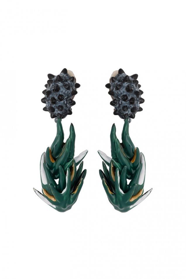 Ръчно изработени висящи обеци Balenciaga есен 2012