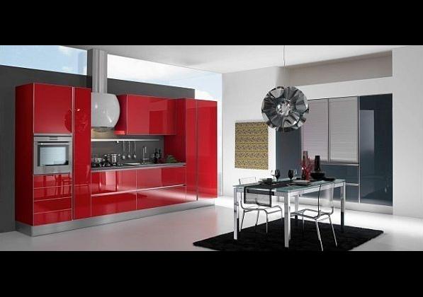 Как да използваме червено в дизайна на кухнята 2