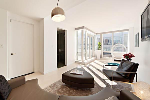 Уютен кът в апартамент в Ню Йорк