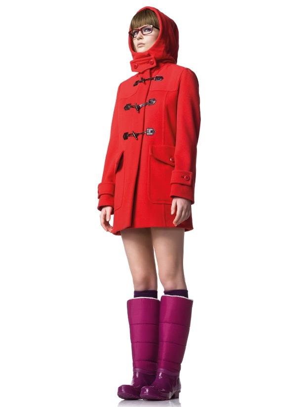 червено палто на United Colors of Benetton 2012
